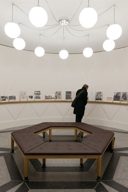 The 'Drum' Archive Gallery with a display showcasing the changing face of Tate Britain
