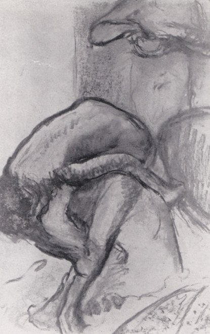 Edgar Degas The Breakfast After the Bath, Woman Drying Herself