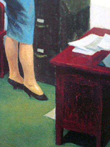Edward Hopper Office at Night, 1940 (detail)