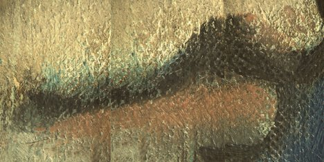 Composite micrograph of the lips of Girl in a Chemise c.1905