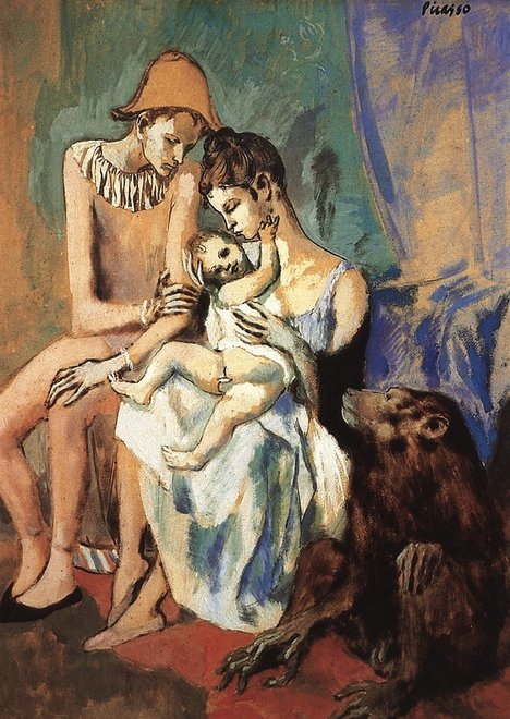 Pablo Picasso Harlequin's Family with an Ape 1905