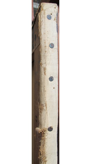 Detail of tacking margin at right side