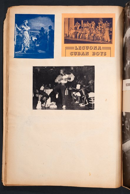 Press cuttings of the Lecuona Cuban Boys in Edward Burra's scrapbook c.1929–36