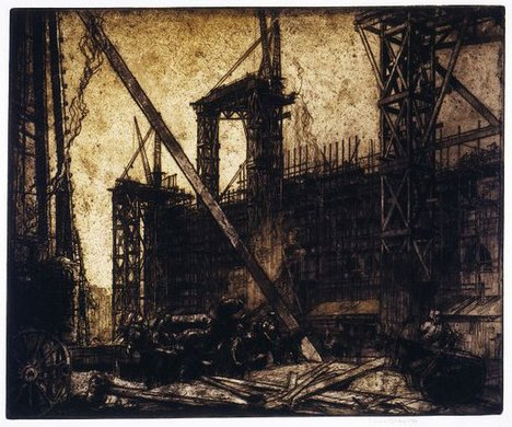 Frank Brangwyn, Building the New Victoria and Albert Museum 1904