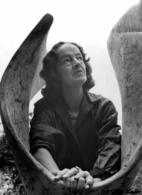 Barbara Hepworth with Curved Form (Trevalgan) 1956 1961