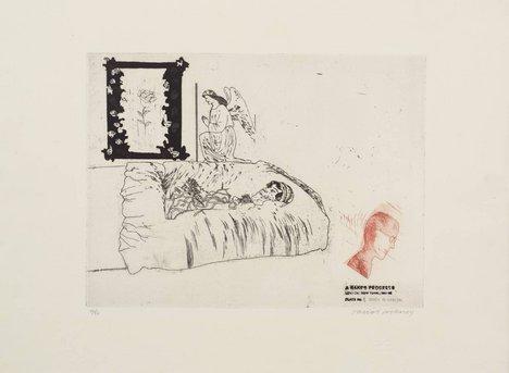 David Hockney, 6. Death in Harlem from A Rake's Progress 1961–3