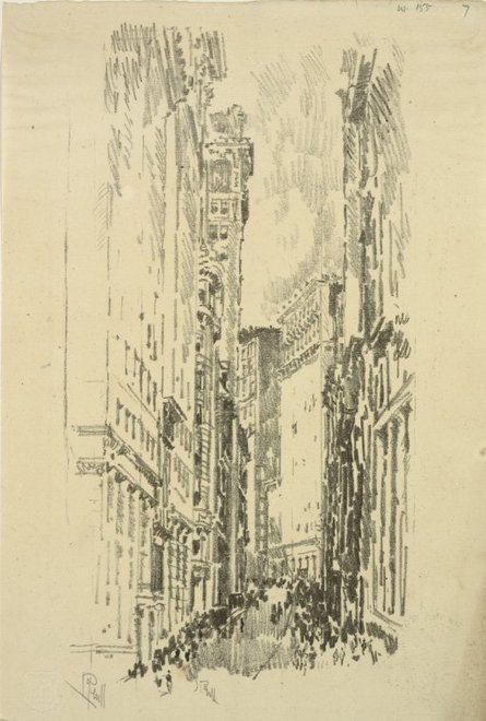 Joseph Pennell, The Cañon, William Street 1904