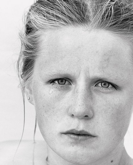 Roni Horn You are the Weather 1994-95 black and white photograph of a young woman's face