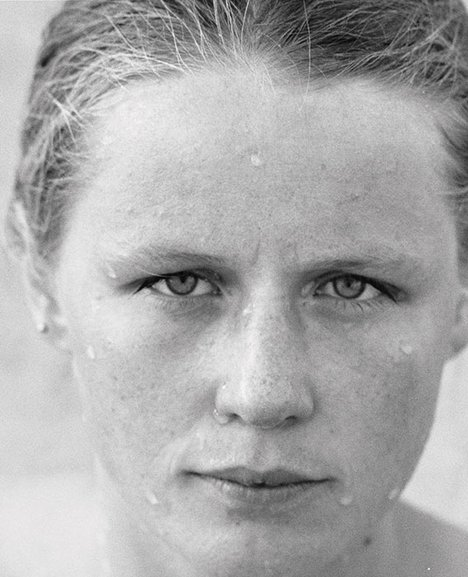 Roni Horn You are the Weather 1994-95 black and white photograph of a young woman's face wet from bathing