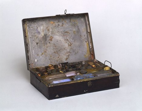 A metal paintbox used by JMW Turner - TGA 7315/6