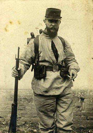 Unknown photographer Jacques Villon in uniform 1906