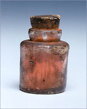 A jar used to carry paint