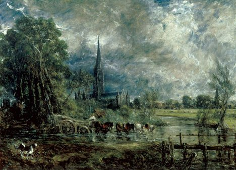 John Constable Salisbury Cathedral from the Meadows (full-size sketch) about 1829-31