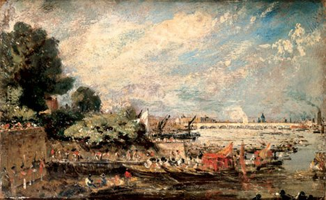 John Constable Sketch for 'The Opening of Waterloo Bridge' about 1819