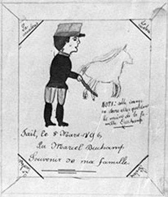 Marcel Duchamp Cavalry 1895