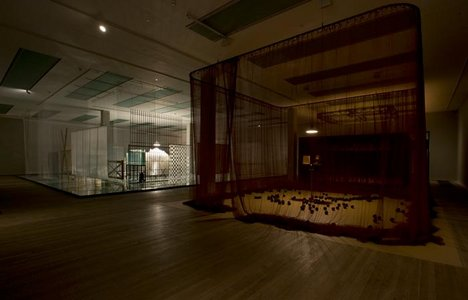 Installation view of Room 2 of the Cildo Meireles exhibition at Tate Modern