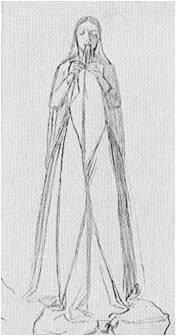 John Everett Millais Study for Mariana 1850
