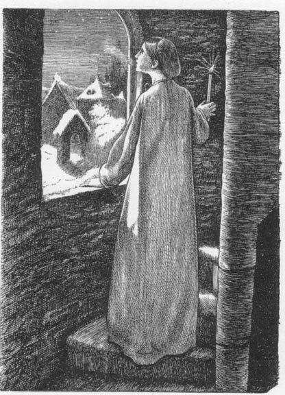 John Everett Millais Illustration for 'St Agnes' Eve'