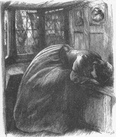 John Everett Millais Illustration for 'Mariana' 1857