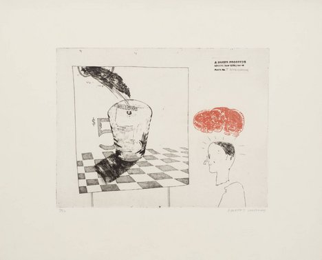 David Hockney '7. Disintegration', from A Rake's Progress 1961–3