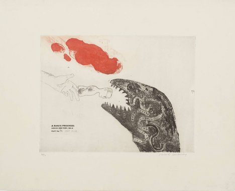 David Hockney '7a. Cast Aside' from A Rake's Progress 1961–3