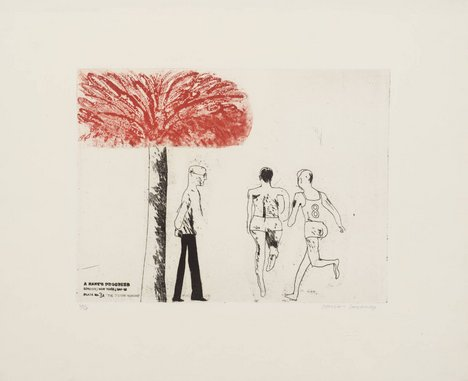 David Hockney '3a. The Seven Stone Weakling', from A Rake's Progress 1961–3