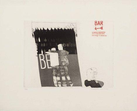 David Hockney '4. The Drinking Scene', from A Rake's Progress 1961–3