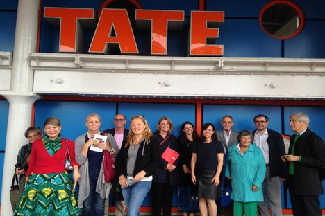 Patrons outside Tate Liverpool