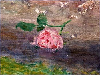 Detail of pink roses from Ophelia