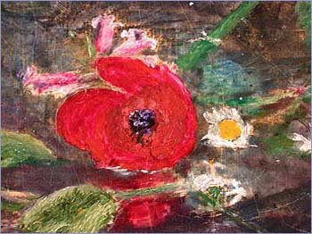 Detail of poppy from Ophelia