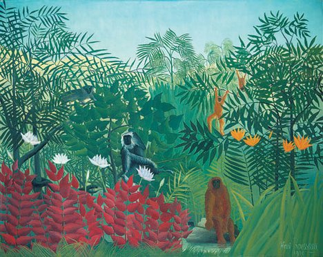 Henri Rousseau - Tropical Forest with Monkeys 1910