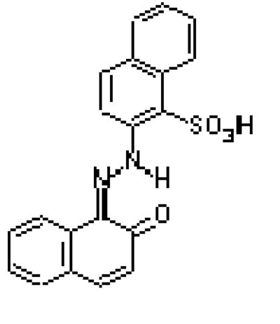 The structure of PR 49 (Na salt)