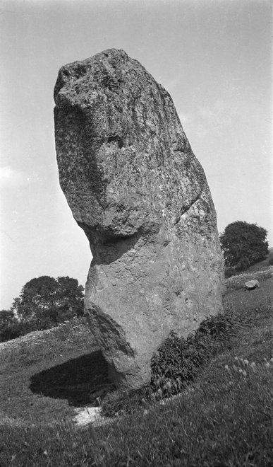 Paul Nash Black and white negative, Avebury Sentinel
