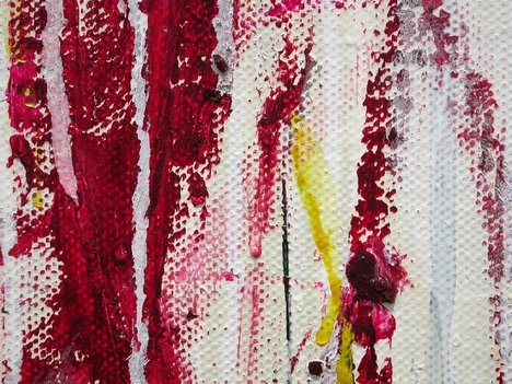 Detail from Cy Twombly Quattro Stagioni: Primavera