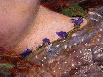 Detail of violets from Ophelia