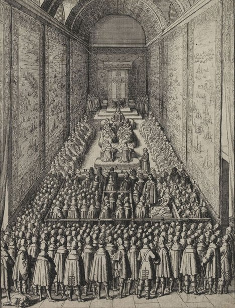 Wenceslaus Hollar Trial of William Laud, Archbishop of Canterbury 1644