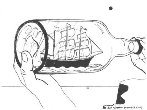 Bill Woodrow Ship In A Bottle 2003