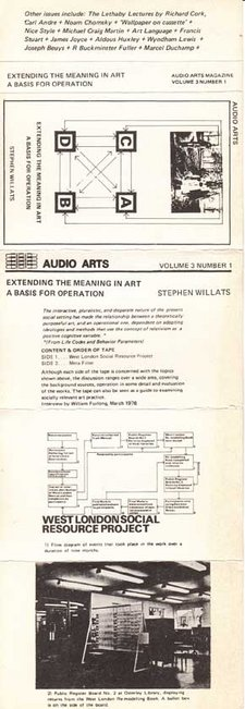 Audio Arts Volume 3 No 1 Inlay 1 showing cassette inlay layout laid flat