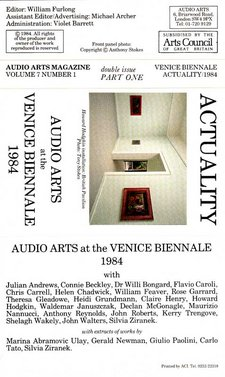 Audio Arts Volume 7 No 1&2 Inlay 1 showing cassette layout for Part 1 of this double cassette