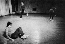 Performance of Yvonne Rainer's The Mind is a Muscle: Trio A, Judson Memorial Church, Greenwich Village, New York, 1966