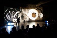 Aldo Tambellini's Black Zero performance in The Tanks, Tate Modern