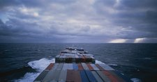 Allan Sekula Panorama. Mid-Atlantic, November 1993, from Fish Story 1989–1995