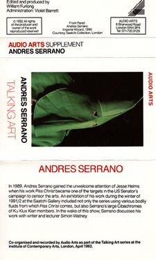 Audio Arts Andres Serrano Talking Art Inlay 1