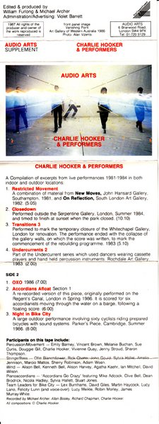 Audio Arts Charlie Hooker & Performers Inlay 1