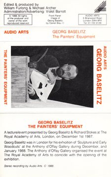 Audio Arts Georg Baselitz The Painter's Equipment Inlay 1