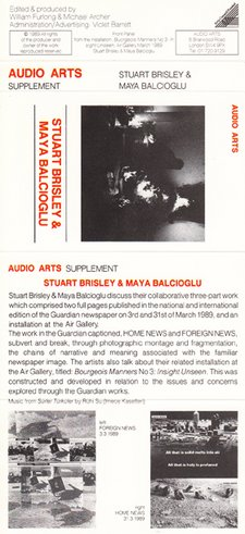 Audio Arts Stuart Brisley and Maya Balcioglu