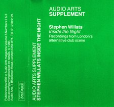Audio Arts supplement Stephen Willats, Inside the Night cassette inlay