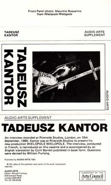 Inlay for Audio Arts supplement Tadeusz Kantor showing cassette cover design