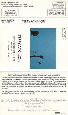 Audio Arts Supplement Terry Atkinson and Jon Bird talking on art and cultural politics, Inlay 1