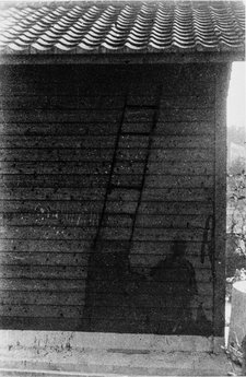 Matsumoto Eiichi, Shadow of a soldier remaining on the wooden wall of the Nagasaki military headquarters, 1945